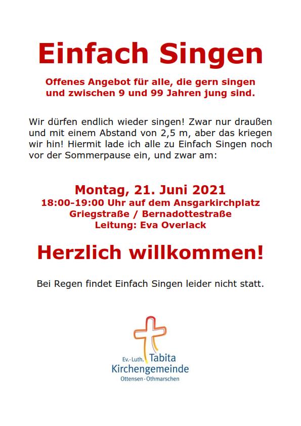 Ansgarkirchplatz: Einfach Singen........